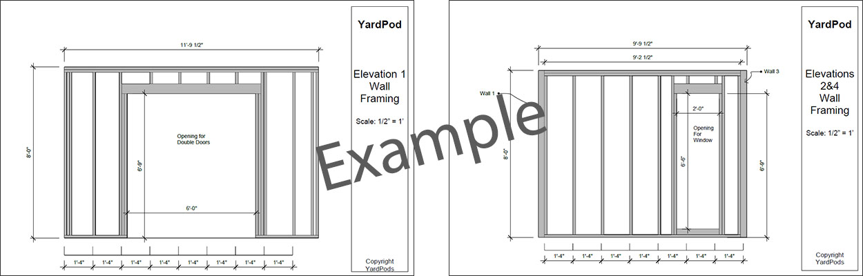 YardPod Construction Drawings